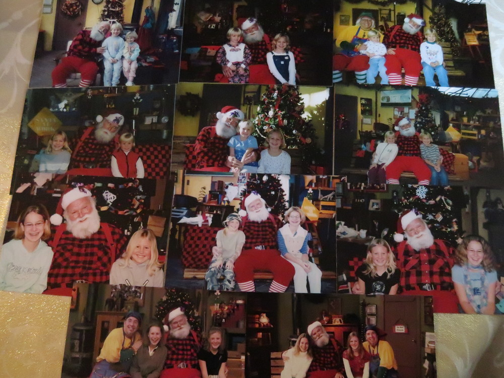 Every single Santa picture at Bachmann's.