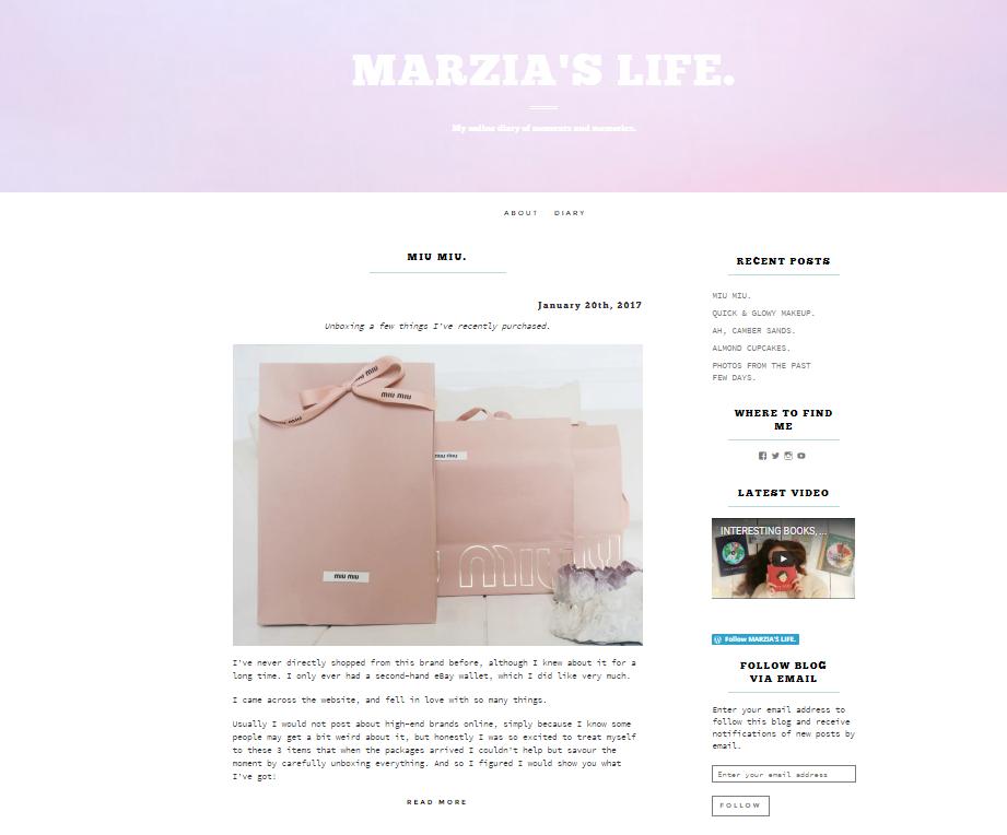 Marzia Blog