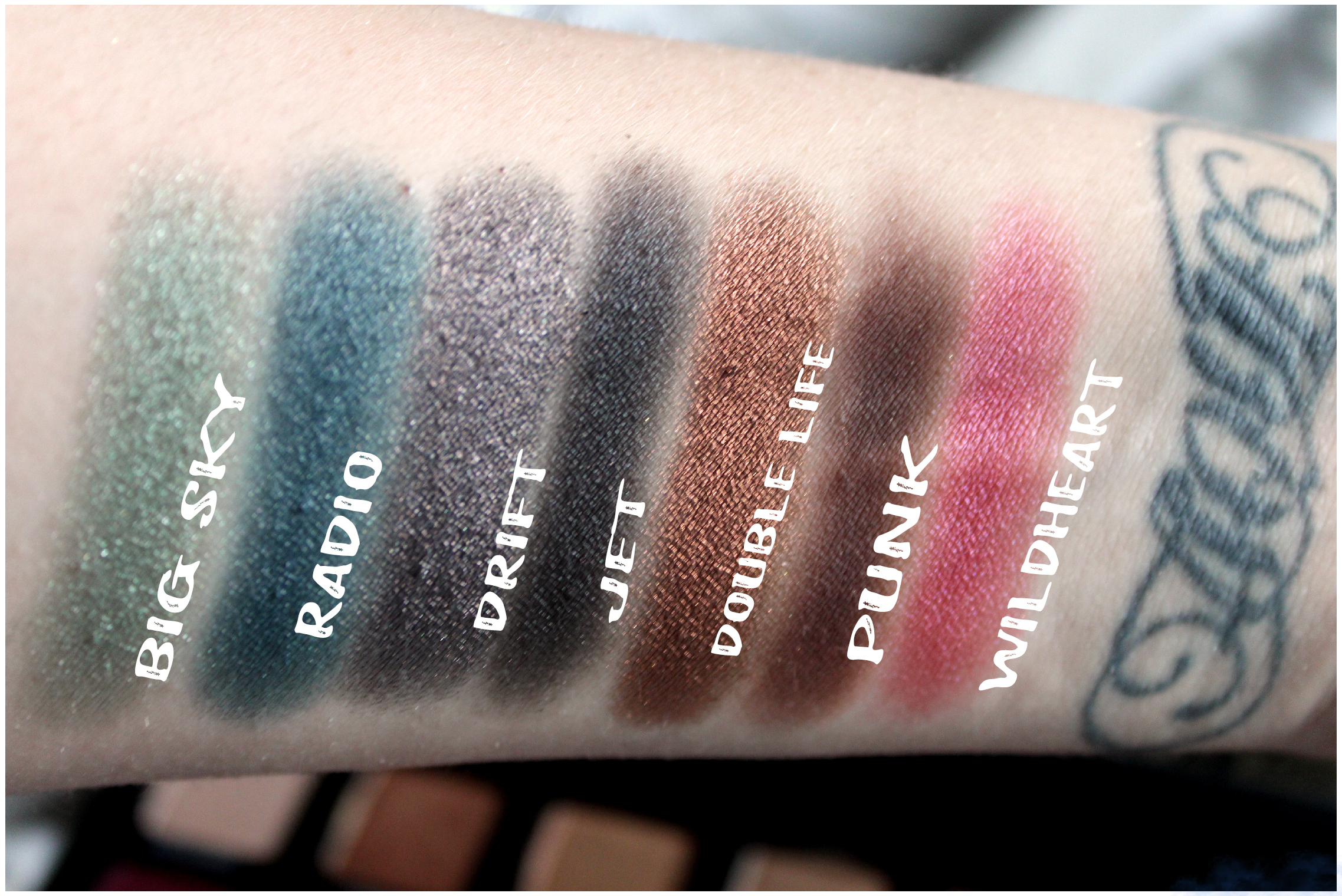UD Born to Run Row 3 Swatches