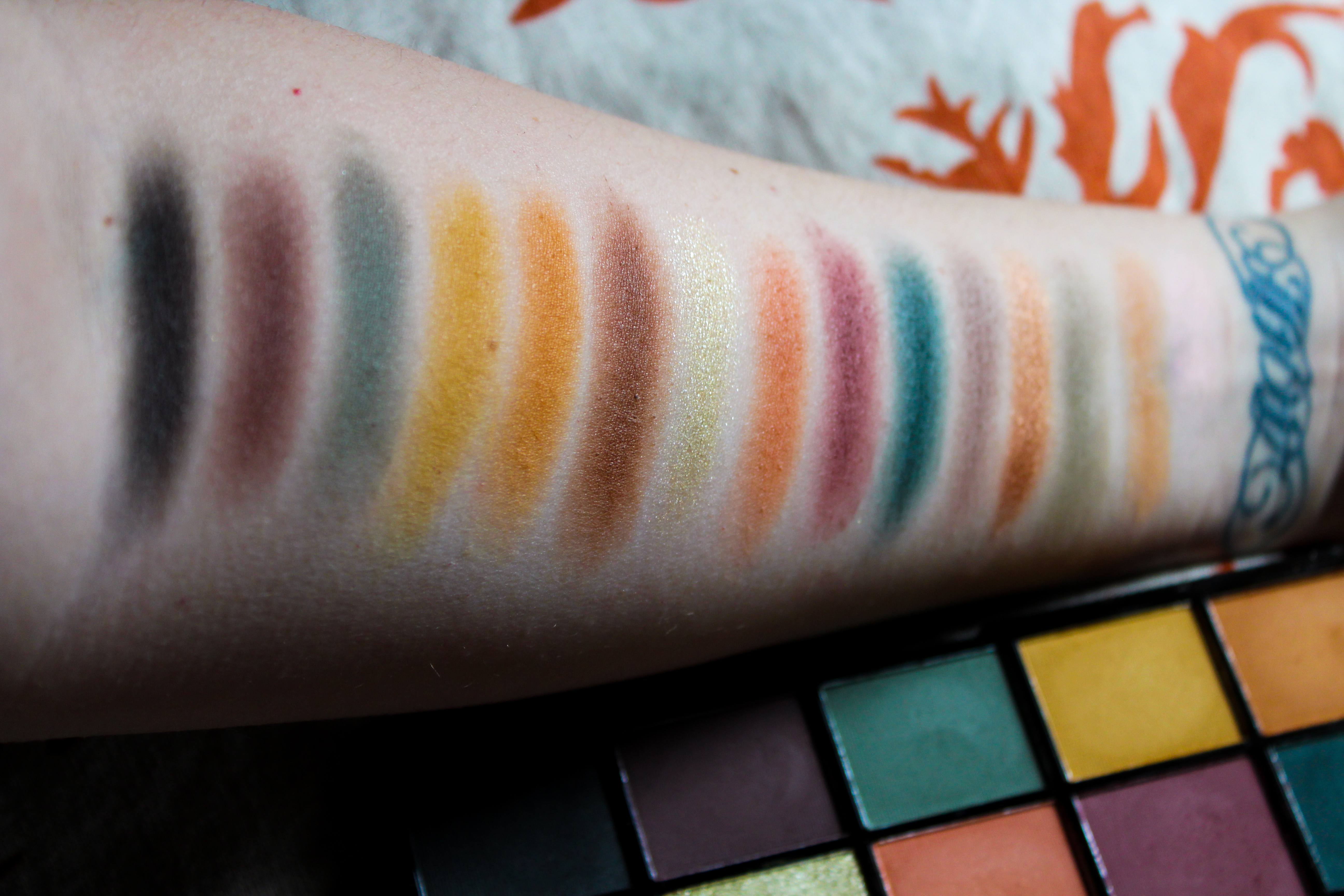 Makeup Revolution Reloaded Division Palette Swatches