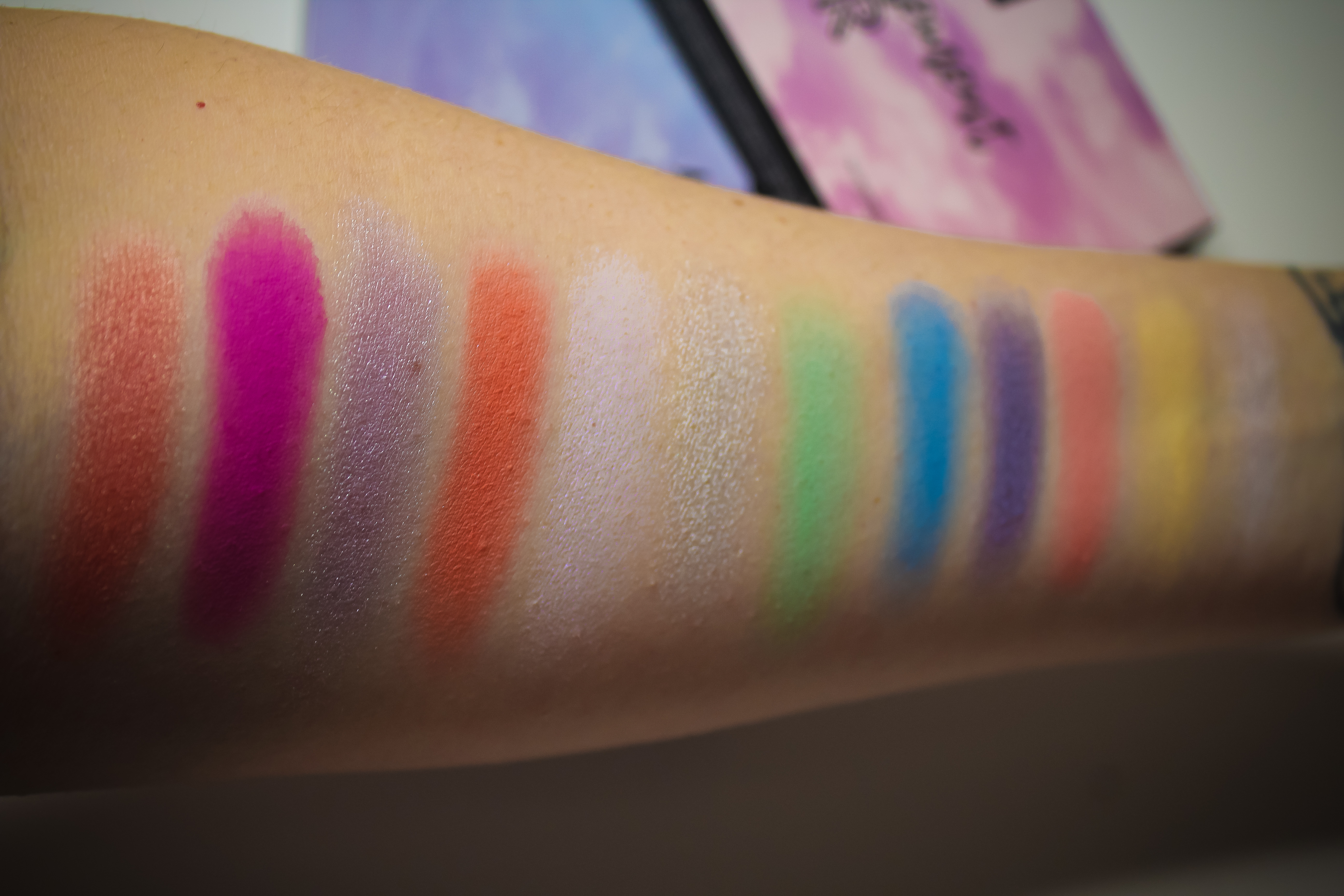 Nyx In Your Element Air Palette Swatches