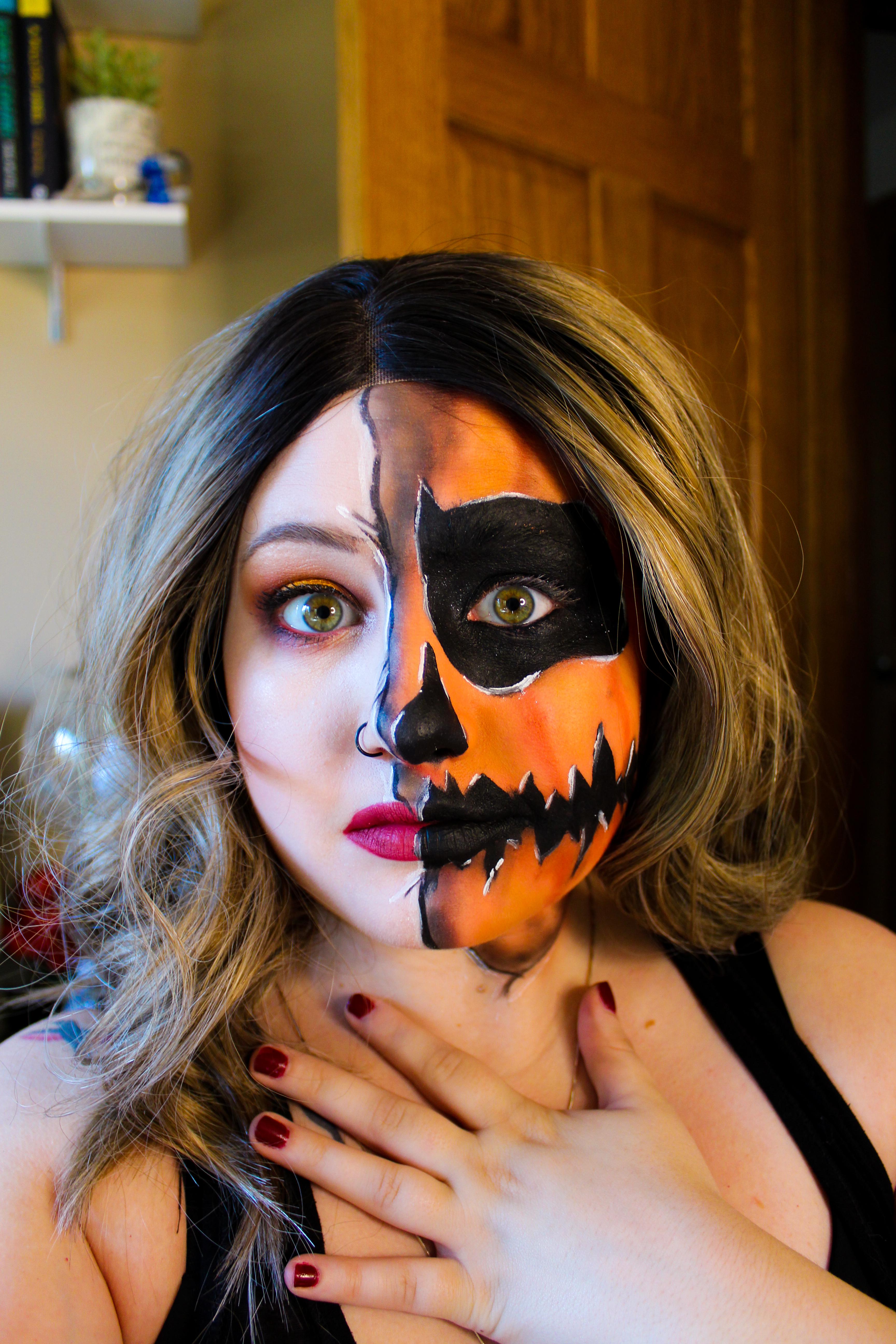 Mae Polzine Pumpkin Makeup Look 2