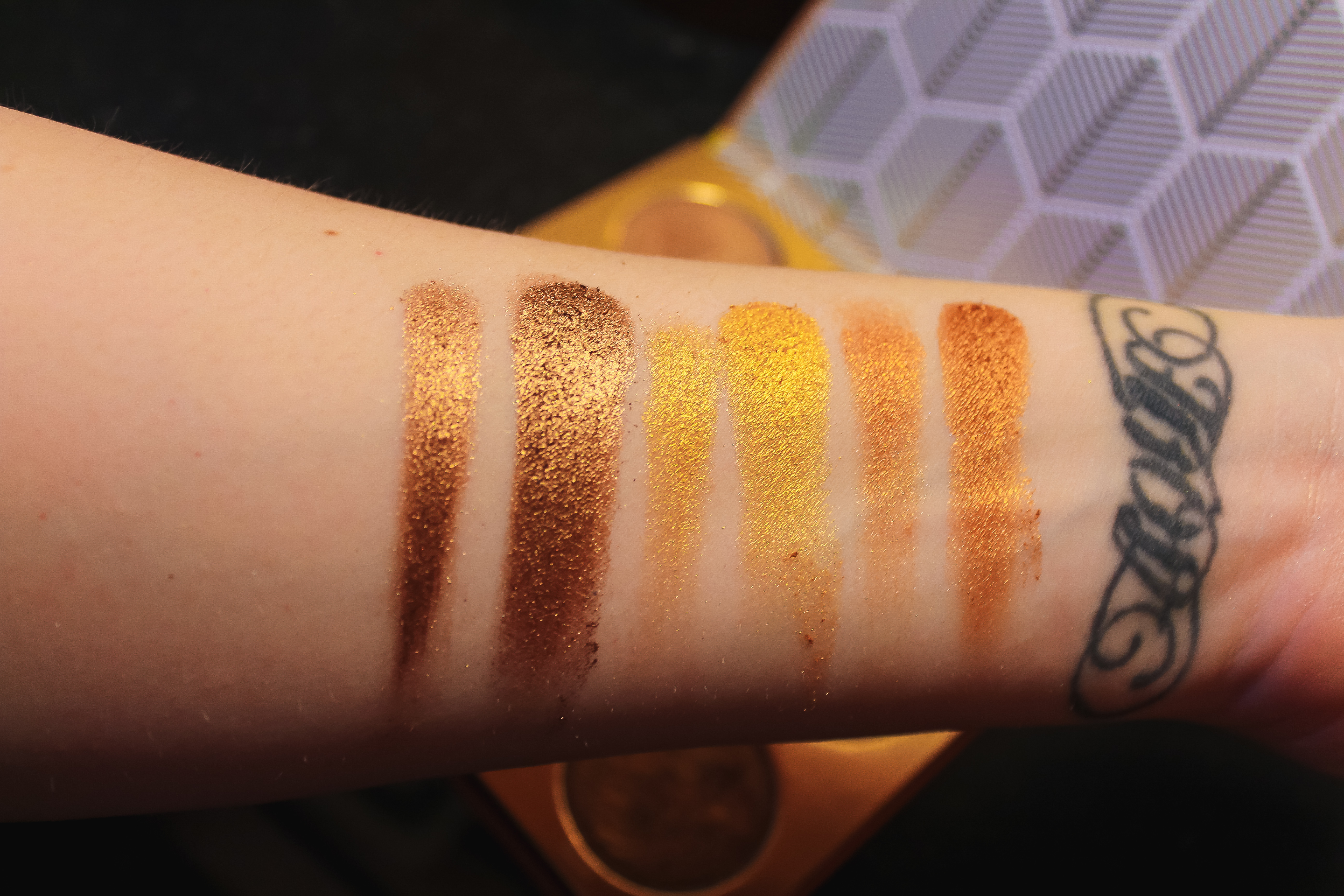 Juvia Place The Warrior Palette Swatch Part 2